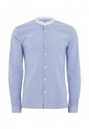 Рубашка Topman. Цвет: голубой