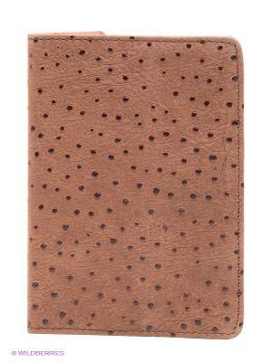 Обложка для паспорта D'Angeny. Цвет: коричневый, темно-коричневый