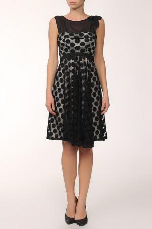 Платье XS MILANO. Цвет: черный, горох