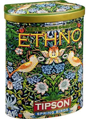 Чай Tipson Этно-Весенние птицы  100 гж/б. Цвет: черный