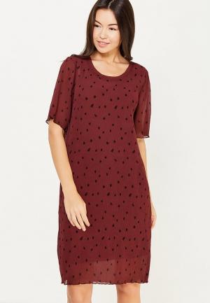 Платье Ichi. Цвет: бордовый