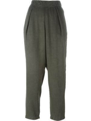 Плиссированный брюки Raquel Allegra. Цвет: зелёный