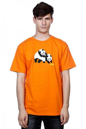 Футболка  Piggyback Pandas Orange Enjoi. Цвет: оранжевый