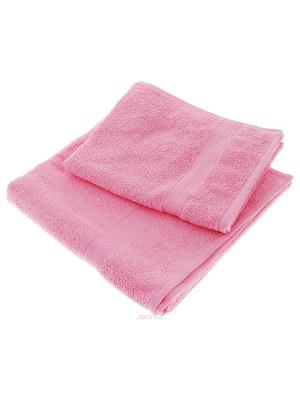 Махровое полотенце розовое Aisha. Цвет: розовый