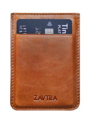 Минималистичный кошелек ZAVTRA. Цвет: коричневый