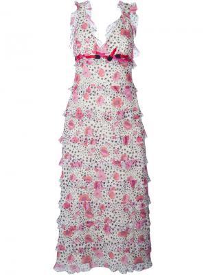 Платье с принтом Giamba. Цвет: многоцветный