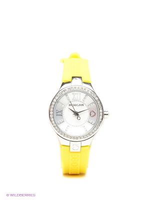 Часы Morgan. Цвет: желтый, серебристый