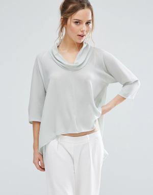 Closet London Рубашка асимметричной длины. Цвет: зеленый