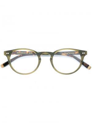Очки Frankie Moscot. Цвет: зелёный