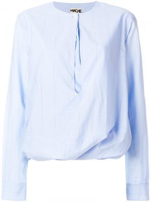 Полосатая блузка Hache. Цвет: синий