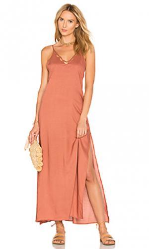 Макси платье kora Tori Praver Swimwear. Цвет: розовый