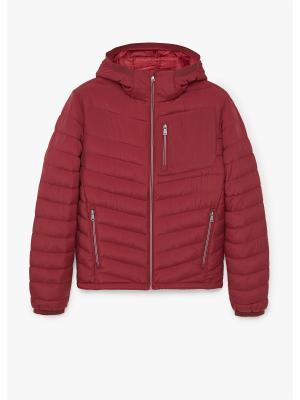 Куртка MANGO MAN. Цвет: темно-красный