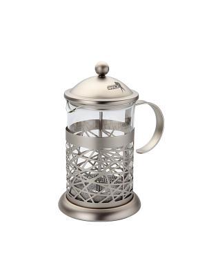 Чайник заварочный 0,8 Л со стеклом марки SCHOTT (Германия) Augustin Welz. Цвет: серый