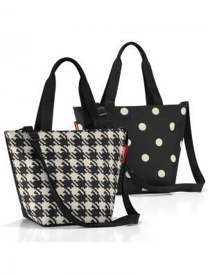 Сумка Shopper XS fifties black Reisenthel. Цвет: черный, белый