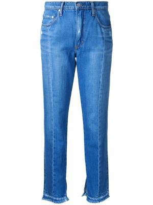 Двухцветные джинсы Issy Nobody Denim. Цвет: синий