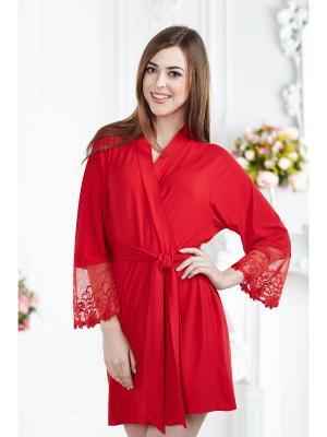 Халат женский AnGela. Цвет: красный