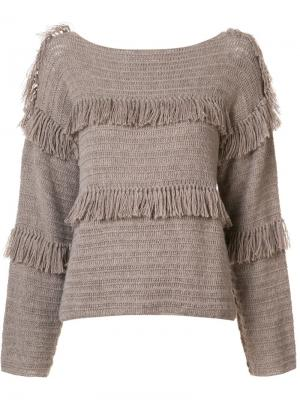 Пуловер Lordes Ulla Johnson. Цвет: коричневый
