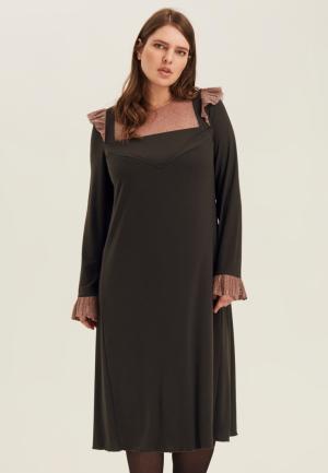 Платье W&B. Цвет: хаки