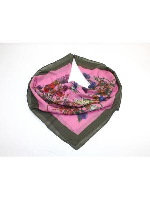 Платок Dolci Capricci. Цвет: серо-коричневый, розовый