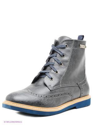 Ботинки Betsy. Цвет: серый, синий