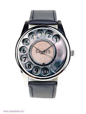 Часы Телефонный диск Mitya Veselkov. Цвет: черный, бледно-розовый