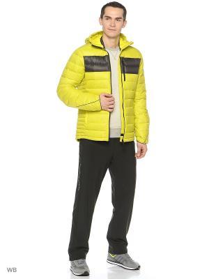 Пуховик Climaheat Frost Print Adidas. Цвет: салатовый