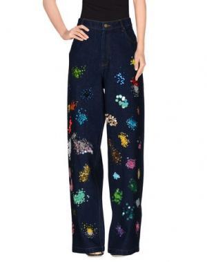 Джинсовые брюки ASHISH. Цвет: синий
