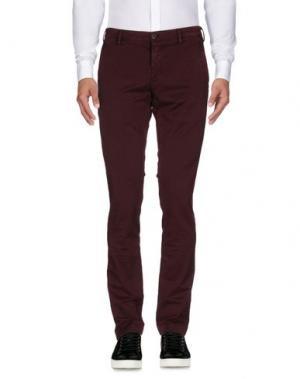 Повседневные брюки MASON'S. Цвет: баклажанный