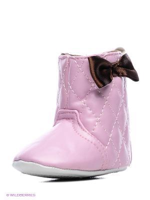 Пинетки Стёганые сапожки Luvable Friends. Цвет: розовый