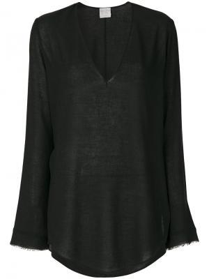 Рубашка с драпировкой Forte. Цвет: чёрный