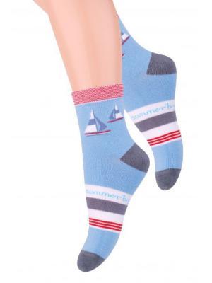 Комплект детских носков Steven, 32-34,  белый / темно-серый, темно-серый/черный, голубой серый Steven. Цвет: белый, голубой, серый, темно-серый, черный