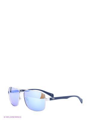 Солнцезащитные очки Legna. Цвет: серебристый, синий