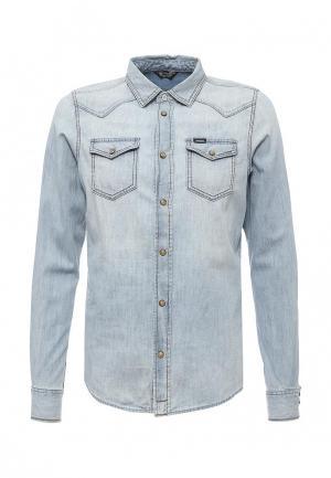 Рубашка джинсовая Diesel. Цвет: голубой