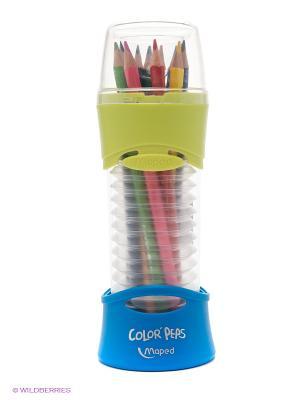 Набор цветных карандашей, 12 цветов Maped. Цвет: синий
