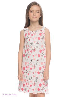 Сорочка S`Cool. Цвет: белый, серый, розовый