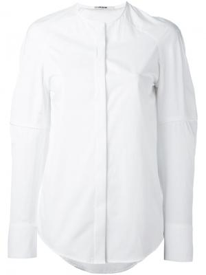 Рубашка мешковатого кроя Chalayan. Цвет: белый
