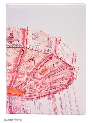 Обложка для паспорта Merry-go-round Kawaii Factory. Цвет: розовый