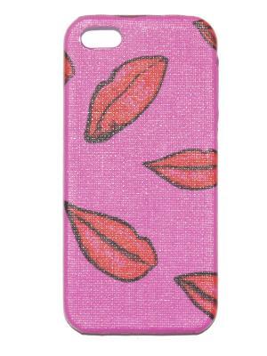 Чехол для Iphone 5/ 5S Lola. Цвет: красный, сиреневый