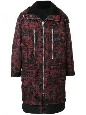 Пальто с принтом Chaos Les Hommes. Цвет: красный
