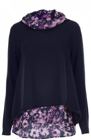Пуловер джерси с топом Deha. Цвет: фиолетовый