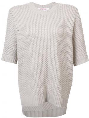 Трикотажная блузка с короткими рукавами Organic By John Patrick. Цвет: телесный