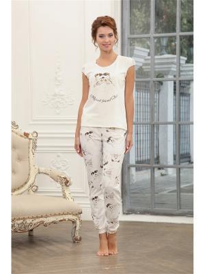 Пижама CLEO. Цвет: молочный