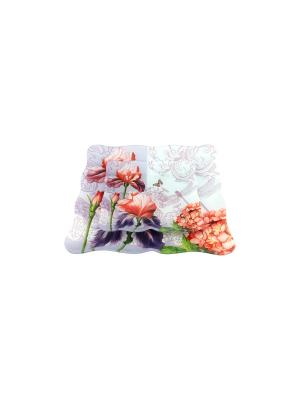 Набор 2 тарелок Цветы садовые Elan Gallery. Цвет: фиолетовый, красный, белый
