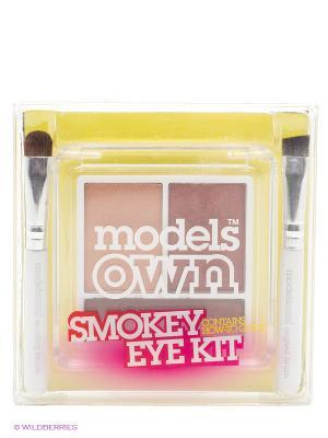 Тени для глаз 4г,Trio Smokey Eye Kit-Smolder Models Own. Цвет: бежевый
