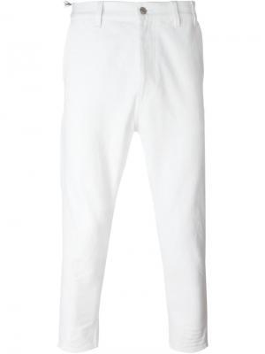 Укороченные брюки Jil Sander. Цвет: белый