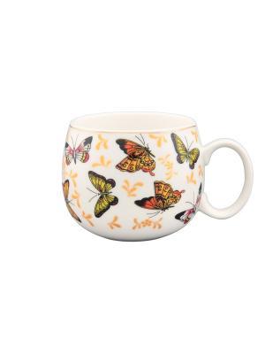 Кружка Бабочки Elan Gallery. Цвет: белый, желтый