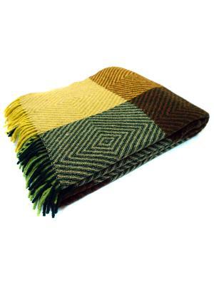 Плед Скиф, 170х210 VLADI. Цвет: желтый, бежевый, зеленый, салатовый, терракотовый
