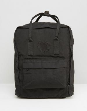 Fjallraven Черный рюкзак объемом 16 л Re-Kanken. Цвет: черный