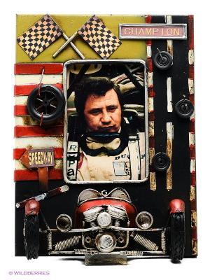 Фоторамка Гоночный автомобиль 8х12см PLATINUM quality. Цвет: черный, оливковый