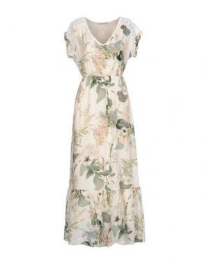 Длинное платье PAOLO CASALINI. Цвет: слоновая кость